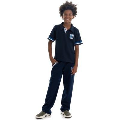 Camisa Polo Azul Unissex