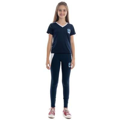 Camiseta Baby Look Azul