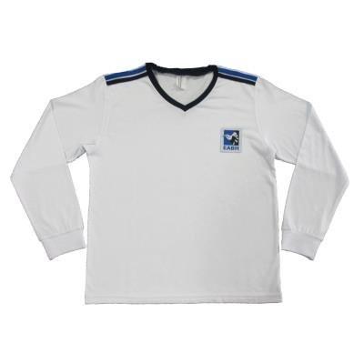 Camiseta Manga Longa Branca Unissex