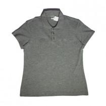 Camiseta Polo Piquet Mescla Escuro Fem