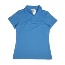 Camiseta Polo Piquet Azul Claro Fem