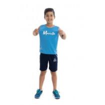 Camiseta Sm Pv Celeste Uniss Ed Infantil